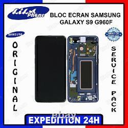 Ecran LCD Noir Original Samsung Galaxy S9 G960F Service Pack