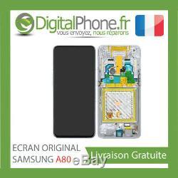 Ecran LCD Original Samsung Galaxy A80 Sm-a805f Gh82-20348a Noir -tva