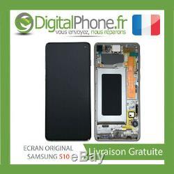 Ecran LCD Original Samsung Galaxy S10 Contour Blanc Gh82-18850b-tva