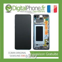 Ecran LCD Original Samsung Galaxy S10 Contour Bleu Gh82-18850c -tva