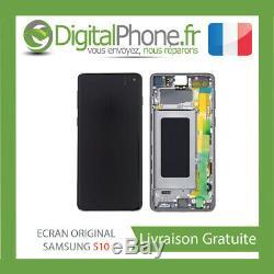 Ecran LCD Original Samsung Galaxy S10 Contour Noir Gh82-18850a -tva