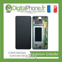 Ecran LCD Original Samsung Galaxy S10 Contour Vert Gh82-18850e -tva