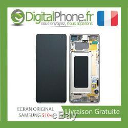 Ecran LCD Original Samsung Galaxy S10 + Plus Contour Blanc Gh82-18849b-tva