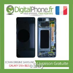 Ecran LCD Original Samsung Galaxy S10+ Plus Contour Bleu Gh82-18849c-tva