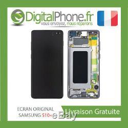 Ecran LCD Original Samsung Galaxy S10 + Plus Contour Noir Gh82-18849a-tva