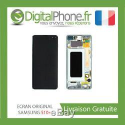 Ecran LCD Original Samsung Galaxy S10 + Plus Contour Vert Gh82-18849e-tva