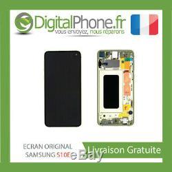 Ecran LCD Original Samsung Galaxy S10e Contour Jaune Gh82-18852g-tva