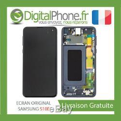 Ecran LCD Original Samsung Galaxy S10e Contour Noir Gh82-18852a-tva