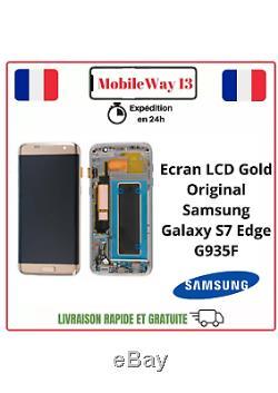 Ecran LCD Original Samsung Galaxy S7 Edge Gold Service Pack G935f