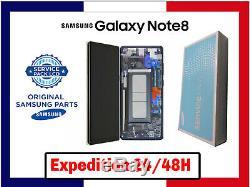 Ecran LCD Original +Vitre Tactile Samsung Galaxy Note 8 SM-N950F Bleu/Noir/Or