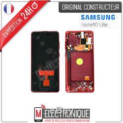 Ecran LCD Rouge Original Samsung Galaxy Note 10 Lite