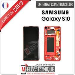 Ecran LCD Rouge Original Samsung Galaxy S10 Sm-g973