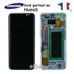 Ecran LCD S8 S8+ S9 S9+ Original Samsung Galaxy, Avec Chassis Noir, Silver