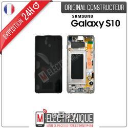Ecran LCD Silver Original Samsung Galaxy S10 Sm-g973f