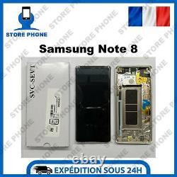 Ecran LCD +Tactile Samsung Galaxy Note 8 SM-N950 Or Gold Original (SERVICE PACK)