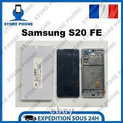 Ecran LCD + Tactile Samsung Galaxy S20 FE SM-G780F SM-G781B Blanc Original
