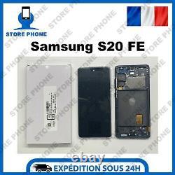 Ecran LCD + Tactile Samsung Galaxy S20 FE SM-G780F SM-G781B Bleu Original