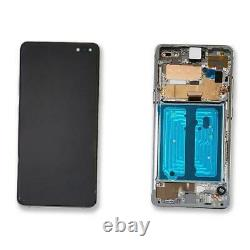 Ecran LCD Vitre Tactile Chassis Original Samsung Galaxy S10 5g Sm-g977f Silver
