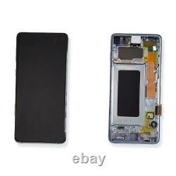 Ecran LCD Vitre Tactile Chassis Original Samsung Galaxy S10 Sm-g973f Bleu
