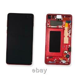 Ecran LCD Vitre Tactile Chassis Original Samsung Galaxy S10 Sm-g973f Rouge