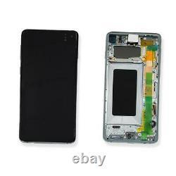 Ecran LCD Vitre Tactile Chassis Original Samsung Galaxy S10 Sm-g973f Vert