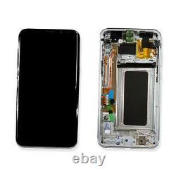 Ecran LCD Vitre Tactile Chassis Original Samsung Galaxy S8 Plus Sm-g955f Silver