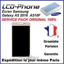 Ecran LCD + Vitre Tactile Or Samsung Galaxy A5 (2016) A510F Original