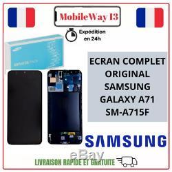 Ecran LCD + Vitre Tactile Samsung Galaxy A71 Sm-a715f Original Service Pack