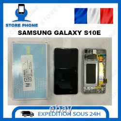 Ecran LCD+Vitre Tactile Samsung Galaxy S10e SM-G970 Blanc Original(SERVICE PACK)