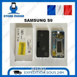 Ecran LCD + Vitre Tactile Samsung Galaxy S9 SM-G960 Bleu Original (SERVICE PACK)