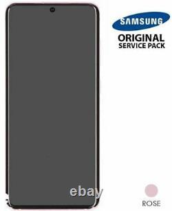 Ecran LCD + Vitre Tactile + châssis Rose Samsung Galaxy S20 G980F (Original)