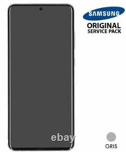 Ecran LCD + Vitre Tactile + châssis gris Samsung Galaxy S20 Ultra (Original)