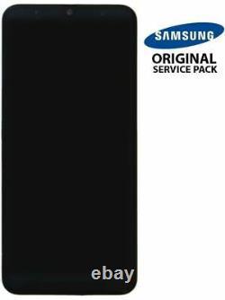 Ecran LCD + Vitre Tactile + châssis noir Samsung Galaxy A50 A505F (Original)
