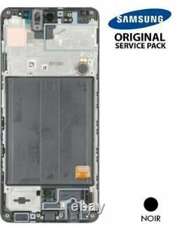 Ecran LCD + Vitre Tactile + châssis noir Samsung Galaxy A51 A515F (Original)