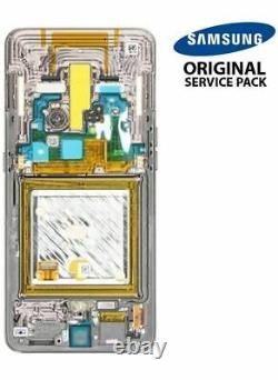 Ecran LCD + Vitre Tactile + châssis noir Samsung Galaxy A70 A705F (Original)