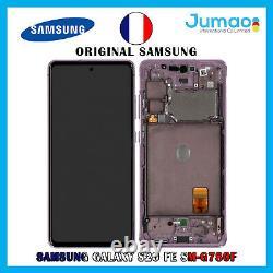Ecran LCD+Vitre Tactile sur châssis Violet ORIGINAL Samsung Galaxy S20 FE G780F