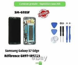 Écran LCD + Vitre tactile Originale pour Samsung Galaxy S7 Edge NOIR + Outils