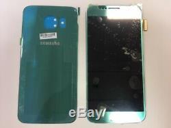 Ecran LCD original Samsung Galaxy S6 G920F bleu topaze + face arrière