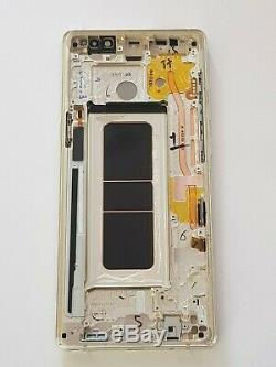 Ecran OLED Complet sur Cadre Samsung Galaxy Note 8 (SM-N950F) Doré Original