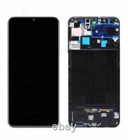 Ecran OLED + Vitre Tactile avec châssis noir Samsung Galaxy A50s A507 (Original)
