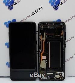 Ecran ORIGINAL AVEC CADRE SAMSUNG GALAXY S8 NOIR S8