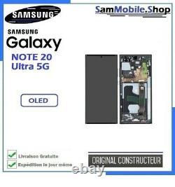 Ecran Oled Samsung Galaxy Note 20 Ultra 5G / SM-N986B 100% ORIGINAL Noir Blanc