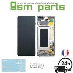 Ecran Original Complet Blanc Samsung Galaxy S10+ (G975F) SERVICE PACK
