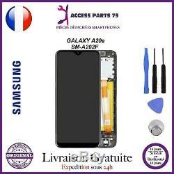 Ecran Original LCD + Vitre Tactile Samsung Galaxy A20e Noir A202F + Outils
