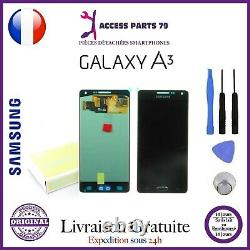 Ecran Original LCD + Vitre Tactile Samsung Galaxy A3 2015 Noir A300F + Outils