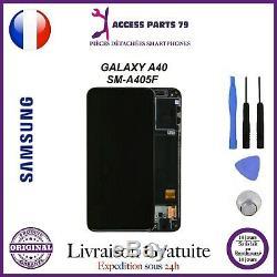 Ecran Original LCD + Vitre Tactile Samsung Galaxy A40 Noir A405F + Outils