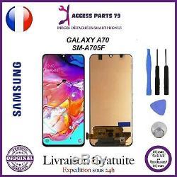 Ecran Original LCD + Vitre Tactile Samsung Galaxy A70 Noir A705F + Outils