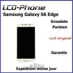 Ecran Samsung Galaxy S6 Edge Blanc LCD Original + Vitre Tactile