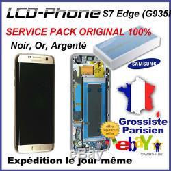 Ecran Samsung Galaxy S7 Edge (G935F)Or/Noir/Argent (LCD+Tactile+Châssis)Original