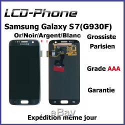 Ecran Samsung Galaxy S7 (G930F) Or/Noir/Argent/Blanc (LCD+Tactile) Original